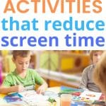 Here are 5 fun kids activities to reduce screen time