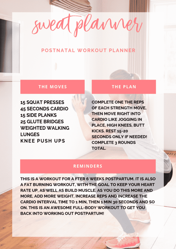 postnatal workout that works