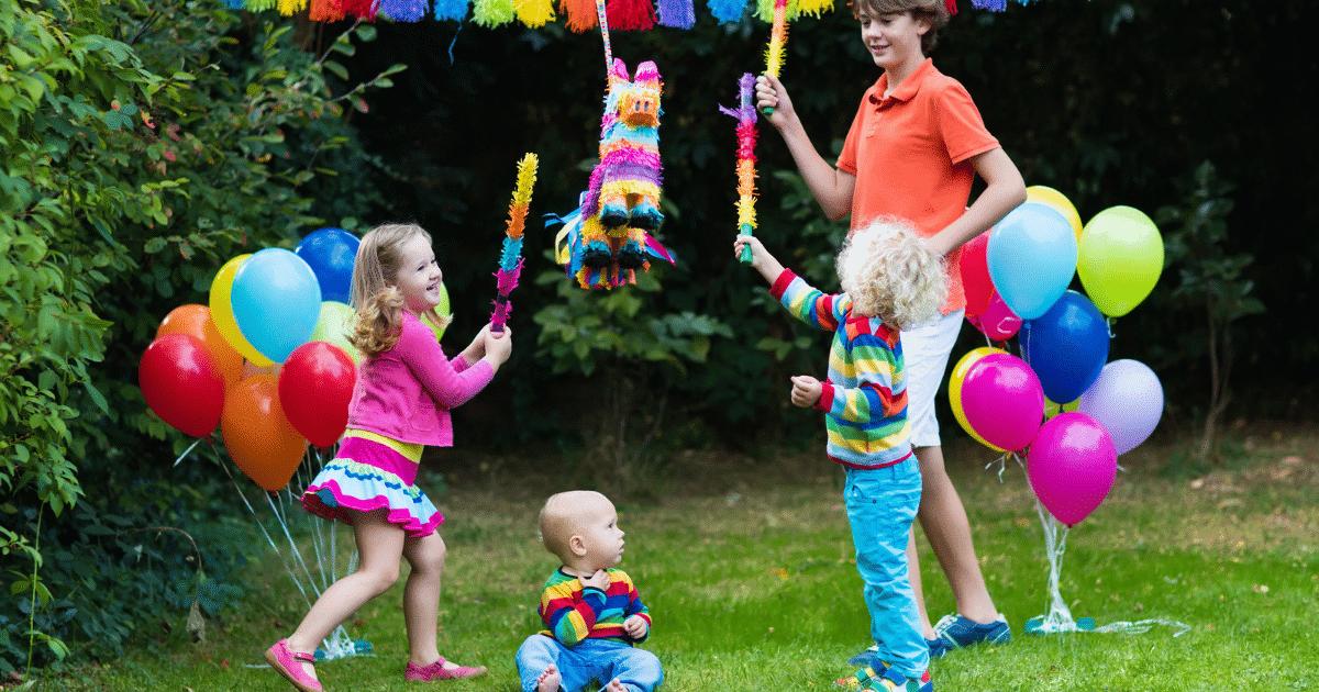 kids playing piñata