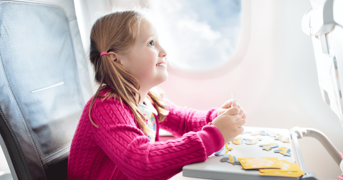 kid in an air plane