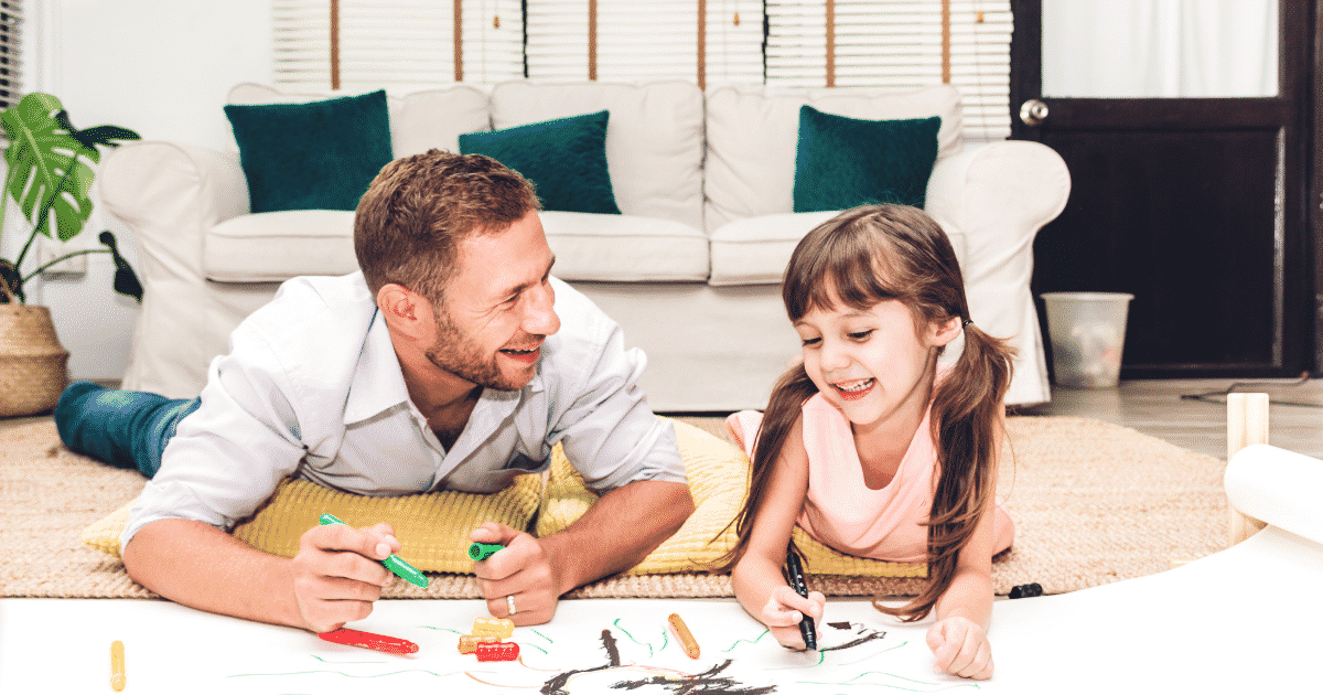 father and child coloring