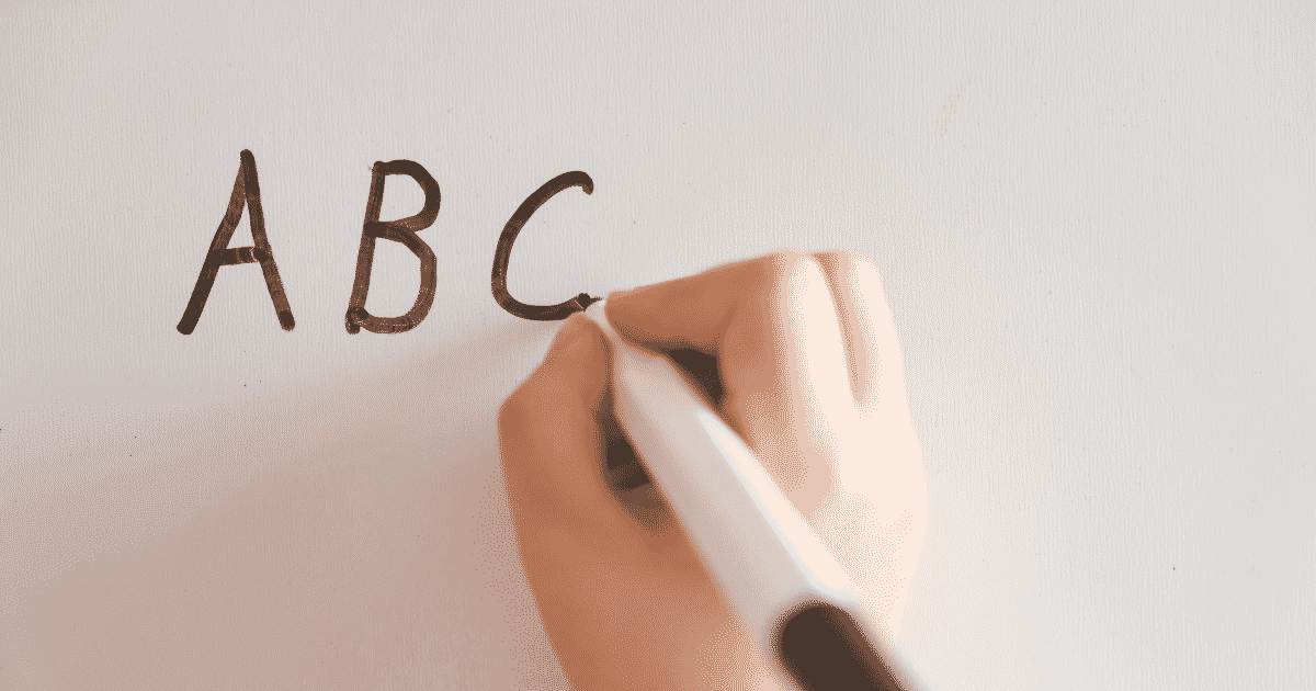 a kid writing