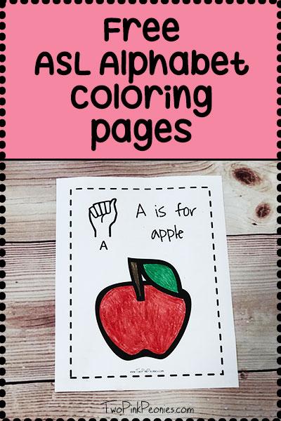 ASL alphabet worksheet