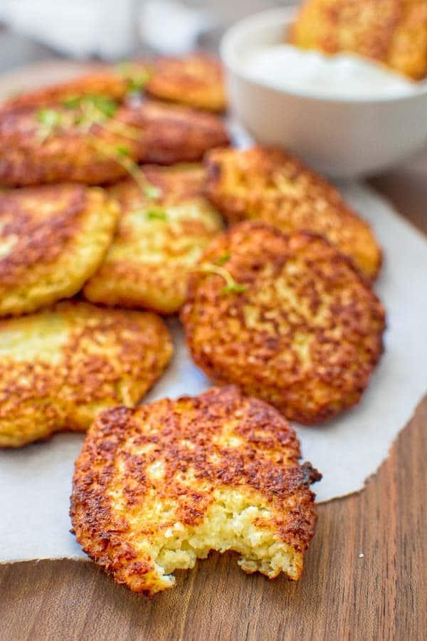cauliflower fritter recipe